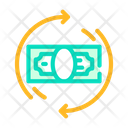Money Banknote Circle Icon