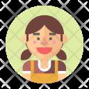 Cashier Employee Girl Icon