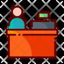 Cashier Cash Counter Counter Icon