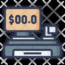 Cashier Cash Register Invoice Machine Icon