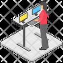 Cashier Saleswoman Cash Counter Icon