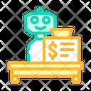 Cashier Robot Cashier Self Icon