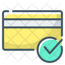 Cashless Payments Card Payment Card Check Icon