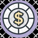 Casino Chip Poker Icon