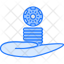 Hand Chips Game Icon