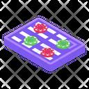 Poker Chips Gambling Casino Game Icon