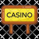 Casino Banner Casino Board Casino Sign Icon