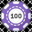 Casino Coin Casino Checks Poker Chip Icon