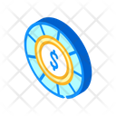 Casino Chip Isometric Icon
