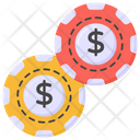 Poker Chips Casino Coins Gambling Coins Icon