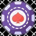 Casino Coin Casino Spade Chip Poker Chip Icon