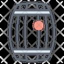 Cylinder Barrel Drum Icon