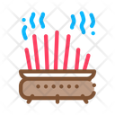 Cast Iron Pot Chopsticks Icon