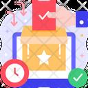 Casting A Vote Voting Ballot Box Icon