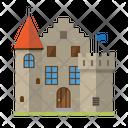 Castle Medieval Architecture Icon