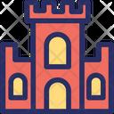Castle Building Antique Icon