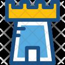 Castle Building Fortress Icon
