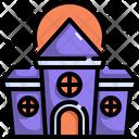 Castle Bat Halloween Icon