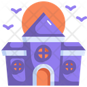Castle Haunted House Halloween Icon