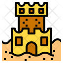 Sand Castle Vacation Travel Icon