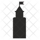 Castle Tower Flag Icon