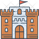 Castle Flag Chateau Mansion Icon