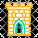 Castle Tower Color Icon