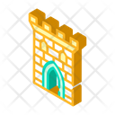 Castle Tower Isometric Icon