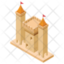 Castle Pillar Castle Tower Architecture Icon