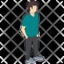 Casual Person Standing Person Casual Attitude Icon