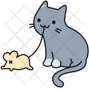 Cat Mouse Animal Icon