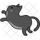 Cat Pet Black Icon