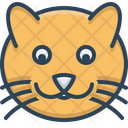 Cat Face Animal Icon