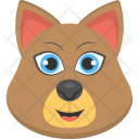 Clever Brown Cat Icon