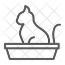 Cat Pet Tray Icon