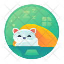 Rest Time Cat Icon
