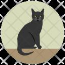 Cat Black Scary Icon