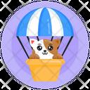 Pet Air Balloon Cat Air Balloon Animal Air Balloon Icon