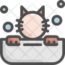Cat Bathtub Pet Icon