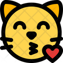 Cat Blowing A Kiss Icon