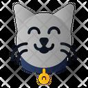 Cat Collar Belt Label Icon