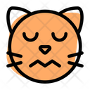 Cat Confounded Closed Eyes Icon