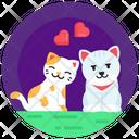 Kittens Love Cat Couple Cat Spouse Icon