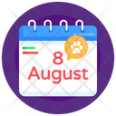 Cat Day Calendar Cat Day Date Almanac Icon