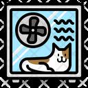 Pet Cat Dryer Icon