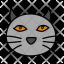 Cat Face Evil Cat Halloween Cat Icon
