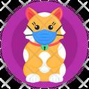 Medical Mask Pet Mask Cat Face Mask Icon