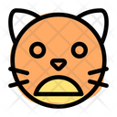 Cat Frowning Open Mouth Icon