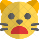 Cat Frowning Open Mouth Animal Wildlife Icon