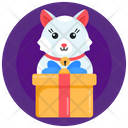 Gift Box Cat Gift Cat Surprise Icon